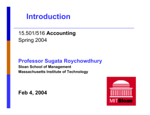 Introduction Accounting Spring 2004 Feb 4, 2004