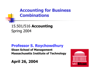 Accounting for Business Combinations Accounting Spring 2004