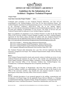 Guidelines for the Submission of an Architect / Engineer Technical Proposal