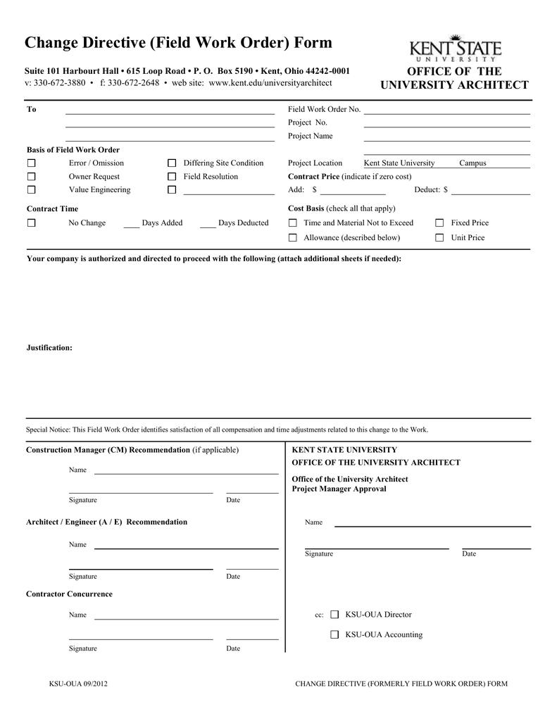 Engineering Change Order Template Database