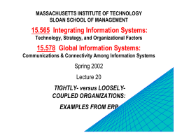 15.565  Integrating Information Systems: