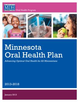 Minnesota Oral Health Plan  2013-2018