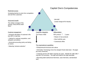 Capital One's Competencies