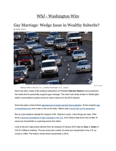 WSJ - Washington Wire  Gay Marriage: Wedge Issue in Wealthy Suburbs?