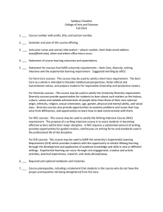 Syllabus Checklist College of Arts and Sciences Fall 2014
