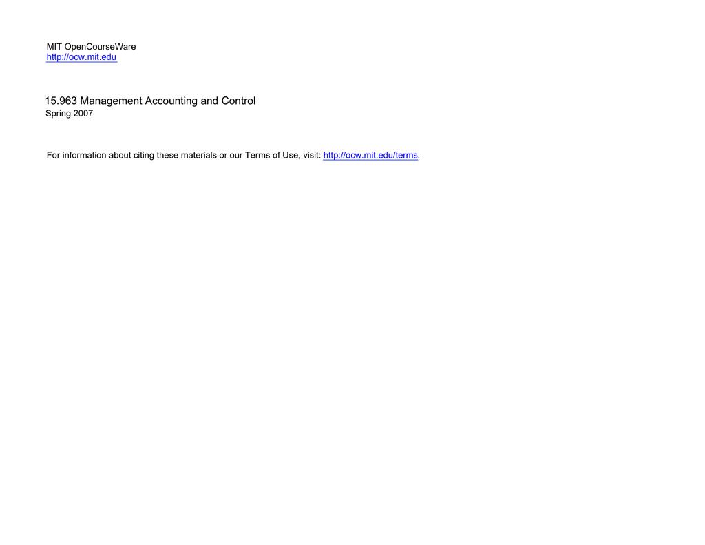 1) MIT Open CourseWare