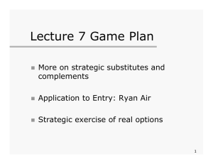 Lecture 7 Game Plan