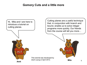 Gomory Cuts and a little more