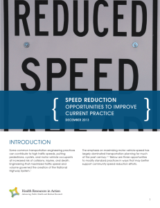 { } SPEED REDUCTION INTRODUCTION