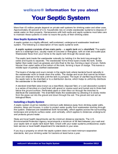 Your Septic System wellcare® information for you  about