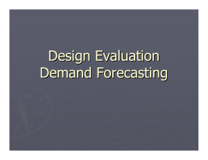 Design Evaluation Demand Forecasting