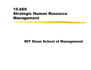 15.660 Strategic Human Resource Management MIT Sloan School of Management