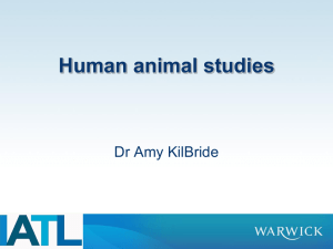 Human animal studies Dr Amy KilBride