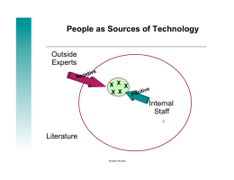 People as Sources of Technology Outside Experts Internal