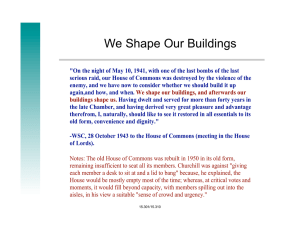 "We Shape Our Buildings ""We Shape Our Buildings"""