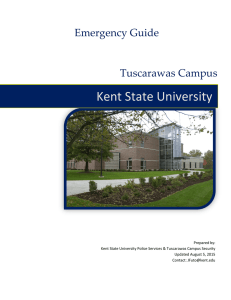 Kent State University Emergency Guide Tuscarawas Campus