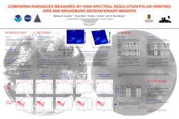 COMPARING RADIANCES MEASURED BY HIGH SPECTRAL RESOLUTION POLAR ORBITING