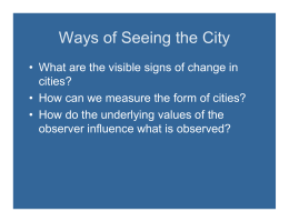 Ways of Seeing the City