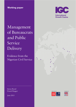 Management of Bureaucrats and Public Service