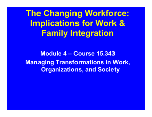 The Changing Workforce: Implications for Work & Family Integration