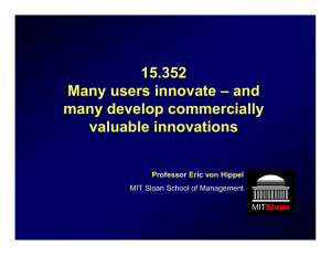 15.352 Many users innovate – and