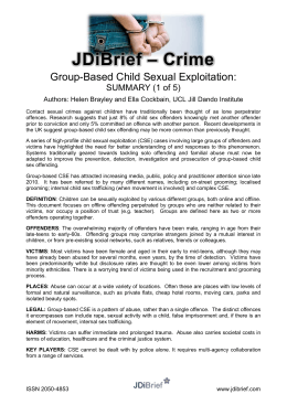 – Crime JDiBrief Group-Based Child Sexual Exploitation: