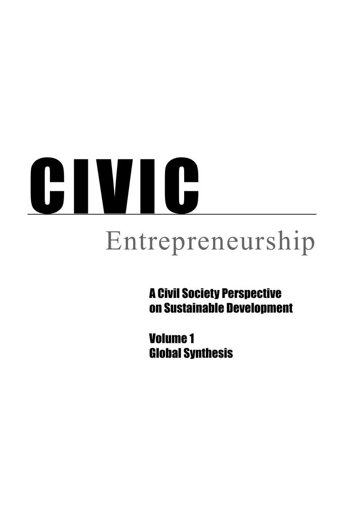 CIVIC Entrepreneurship A Civil Society Perspective on