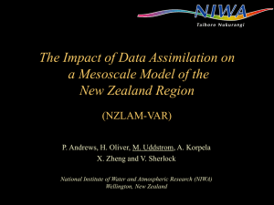 The Impact of Data Assimilation on a Mesoscale Model of the (NZLAM-VAR)
