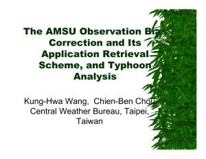 The AMSU Observation Bias Correction and Its Application Retrieval Scheme, and Typhoon