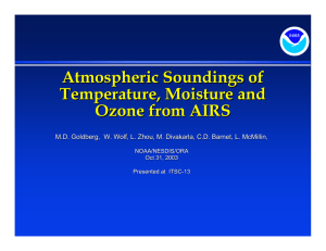 Atmospheric Soundings of Temperature, Moisture and Ozone from AIRS