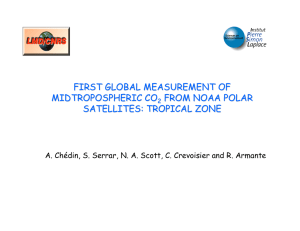 FIRST GLOBAL MEASUREMENT OF MIDTROPOSPHERIC CO FROM NOAA POLAR SATELLITES: TROPICAL ZONE