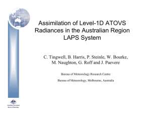 Assimilation of Level-1D ATOVS Radiances in the Australian Region LAPS System