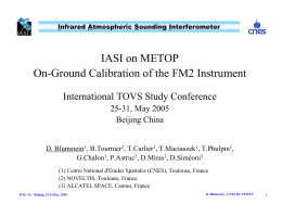 IASI on METOP On-Ground Calibration of the FM2 Instrument 25-31, May 2005