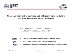 Clear-Air Forward Microwave and Millimeterwave Radiative Transfer Models for Arctic Conditions