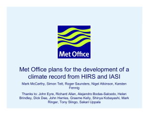 Met Office plans for the development of a