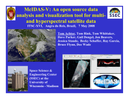 McIDAS-V: An open source data analysis and visualization tool for multi-