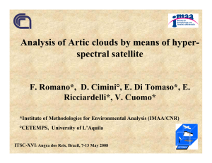 Analysis of Artic clouds by means of hyper- spectral satellite