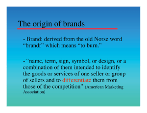 The origin of brands