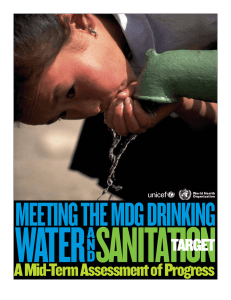 WATER SANITATION MEETING THE MDG DRINKING A Mid-Term Assessment of Progress