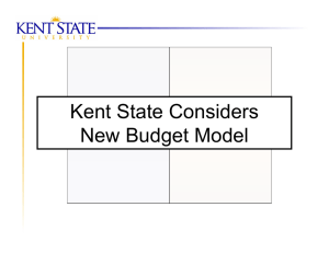 Kent State Considers New Budget Model