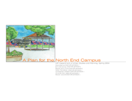 A Plan for the North End Campus