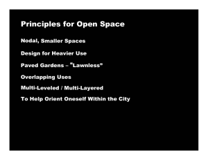 Principles for Open Space