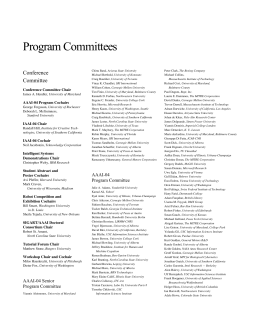Program Committees Conference Committee