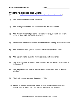 Weather Satellites and Orbits