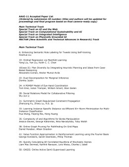 AAAI-11 Accepted Paper List