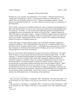 Hiroshima - A Noiseless Flash Summary & Analysis