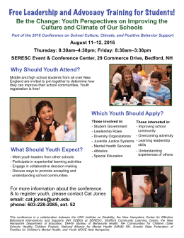 Free Leadership and Advocacy Training for Students!