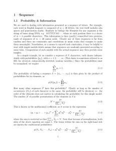 1 Sequence 1.1 Probability & Information