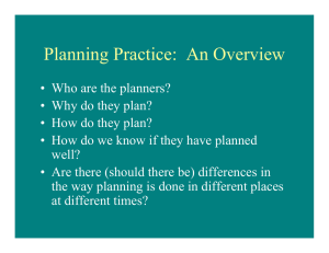 Planning Practice: An Overview