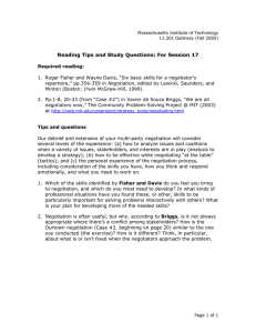 Reading Tips and Study Questions: For Session 17